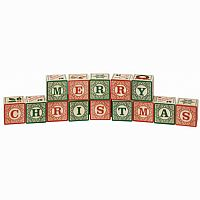 Merry Christmas Wooden Blocks