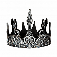 MEDIEVAL CROWN SILVER/BLK