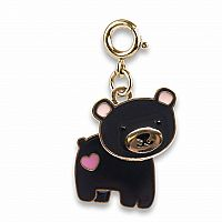 CHARM IT GOLD SWIVEL BEAR