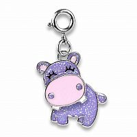 CHARM IT GLITTER SWIVEL HIPPO CHARM