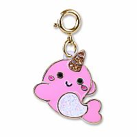 CHARM IT GOLD GLITTER NARWHAL