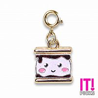 CHARM IT GOLD GLITTER S'MORES CHARM