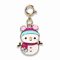CHARM IT GOLD SWIVEL SNOWMAN CHARM