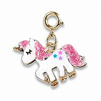 CHARM IT GOLD GLITTER UNICORN CHARM