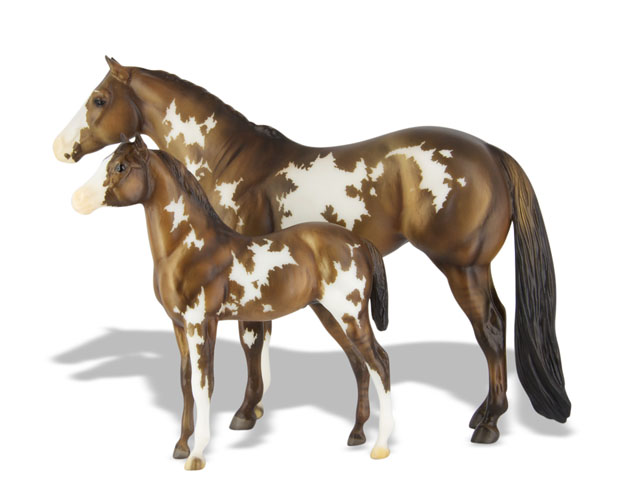Best Breyer Horses And Horse Toys : Breyer overo pinto mare and foal over the rainbow