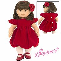 "12"" RED VELVET DRESS SET"