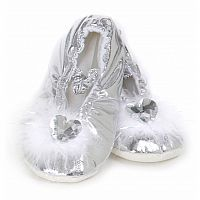 Silver Princess Slippers (Med)