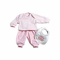 Adora 3 Piece Layette Set Pink
