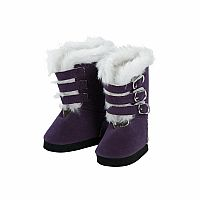 "Adora 18"" Purple Buckle Boots"