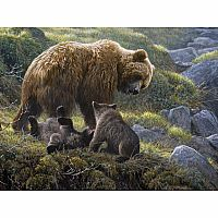 Grizzly and Cubs Family Puzzle