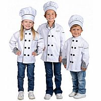 Jr. Chef Jacket w/ Hat, size Large