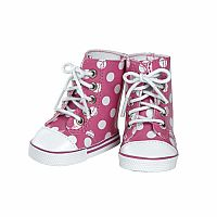 "Adora 18"" Pink Polka Dot High Tops"