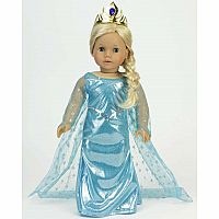 "18"" BLUE ICE PRINCESS DRESS"