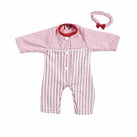 Adora Playtime Pink Stripe Sleeper Outfit