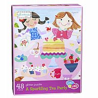 A Sparkling Tea Party Glitter Puzzle 48pc