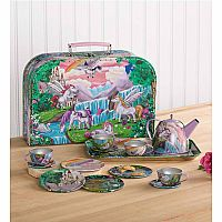 Tin Tea Set Fantasy Land