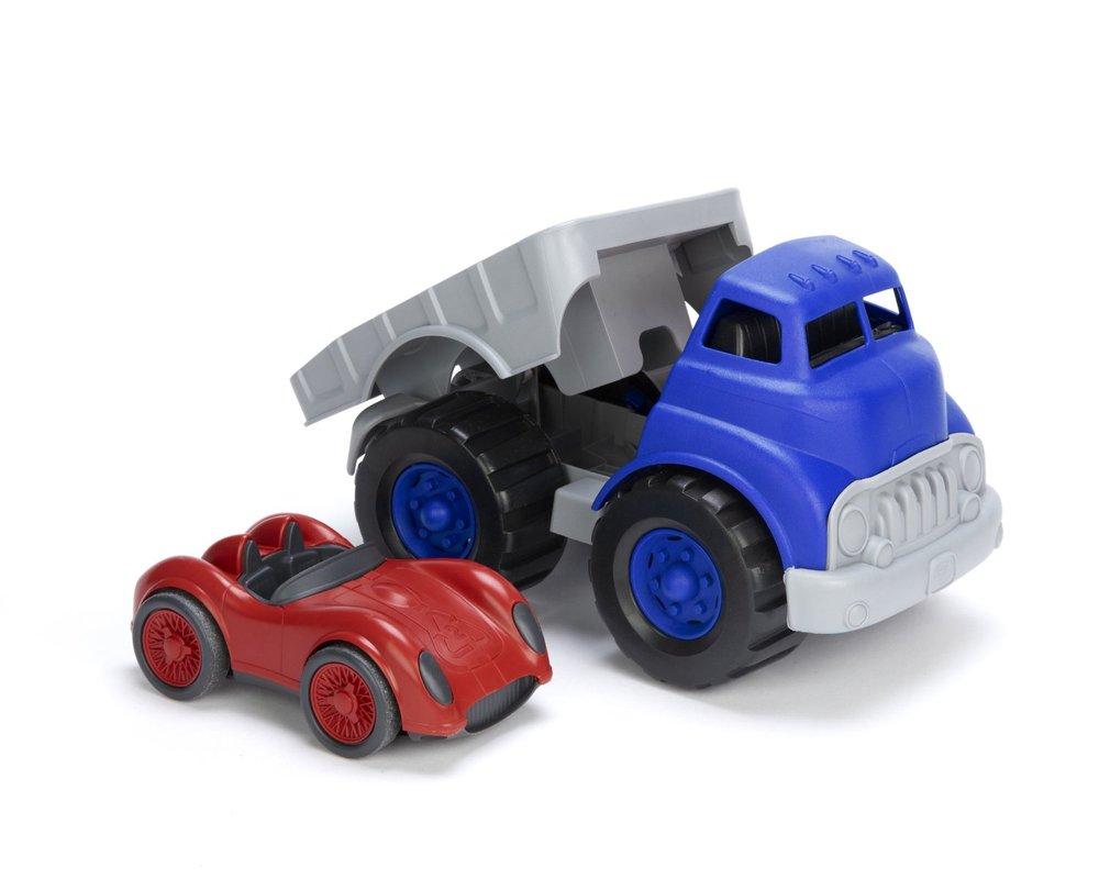 Green Toys Race Car : Green toys flatbed truck race car over the rainbow