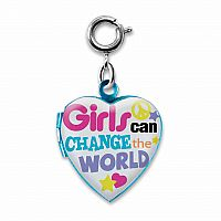 CHARM IT GIRLS CAN CHANGE WORLD LOCKET