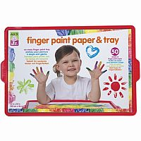 Alex Finger Paint Paper & Tray