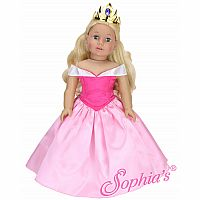 "18"" PINK PRINCESS DRESS CROWN"