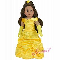 "18"" YELLOW SATIN DRESS W/ GLOVES"