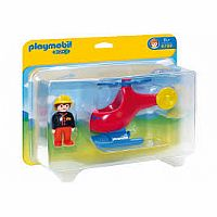 Playmobil 1.2.3. Fire Rescue Helicopter