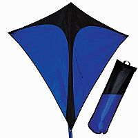 Blue and Black Travel Diamond Kite