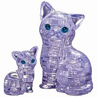 3D Crystal Puzzle- Cat and Kitten