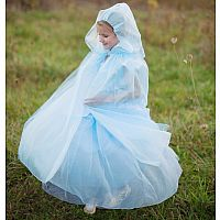 Blue Mesh Princess Cape