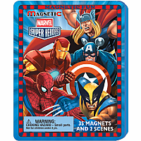 Magnetic Fun Travel Tin- Marvel Heros
