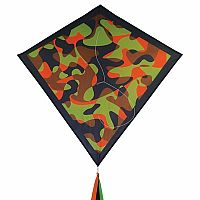 "CAMO ORANGE 30"" DIAMOND KITE"