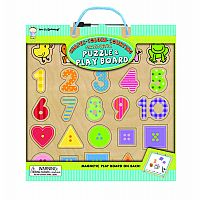 Shapes, Colors, Counting Magnetic Puzzle & Play Board