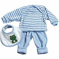 Adora 3 Piece Layette Set Blue