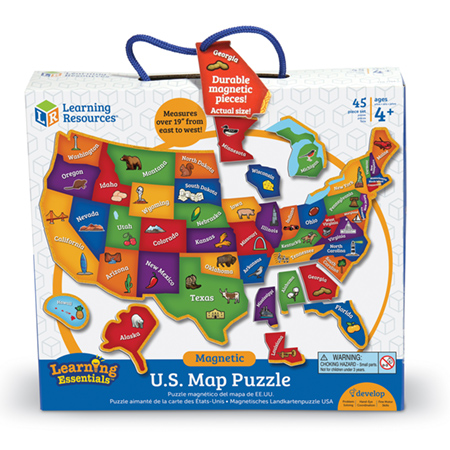Magnetic USA Map Puzzle Over the Rainbow