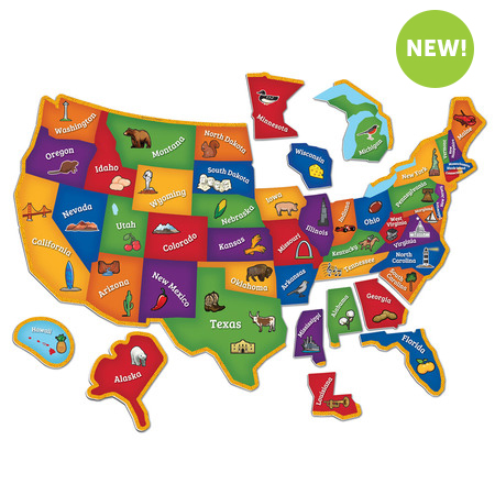 Magnetic U.S.A Map Puzzle - Over the Rainbow