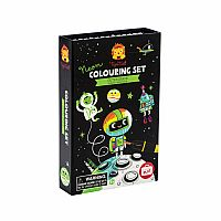 Neon Coloring Set Outer Space
