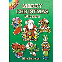 DOVER MERRY CHRISTMAS STICKERS
